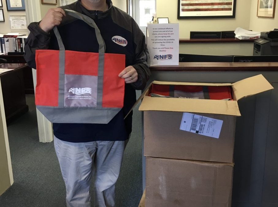 Bags Donated to Wrentham Food Pantry